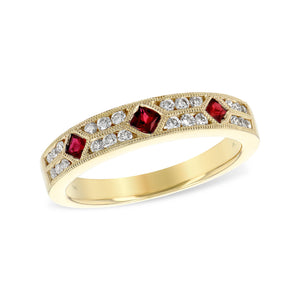 Ruby and Diamond Victoria Stack Band - Talisman Collection Fine Jewelers