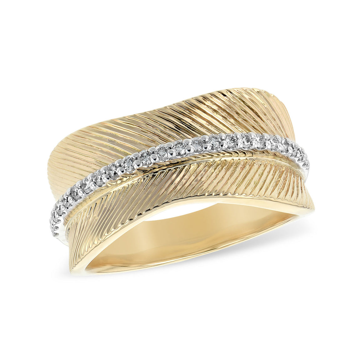 Diamond Concave Textured Band