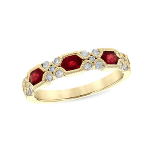 Ruby and Diamond Anniversary Stack Band