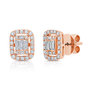 Diamond Medium Ascension Illusion Stud Earrings by Graziela - Talisman Collection Fine Jewelers