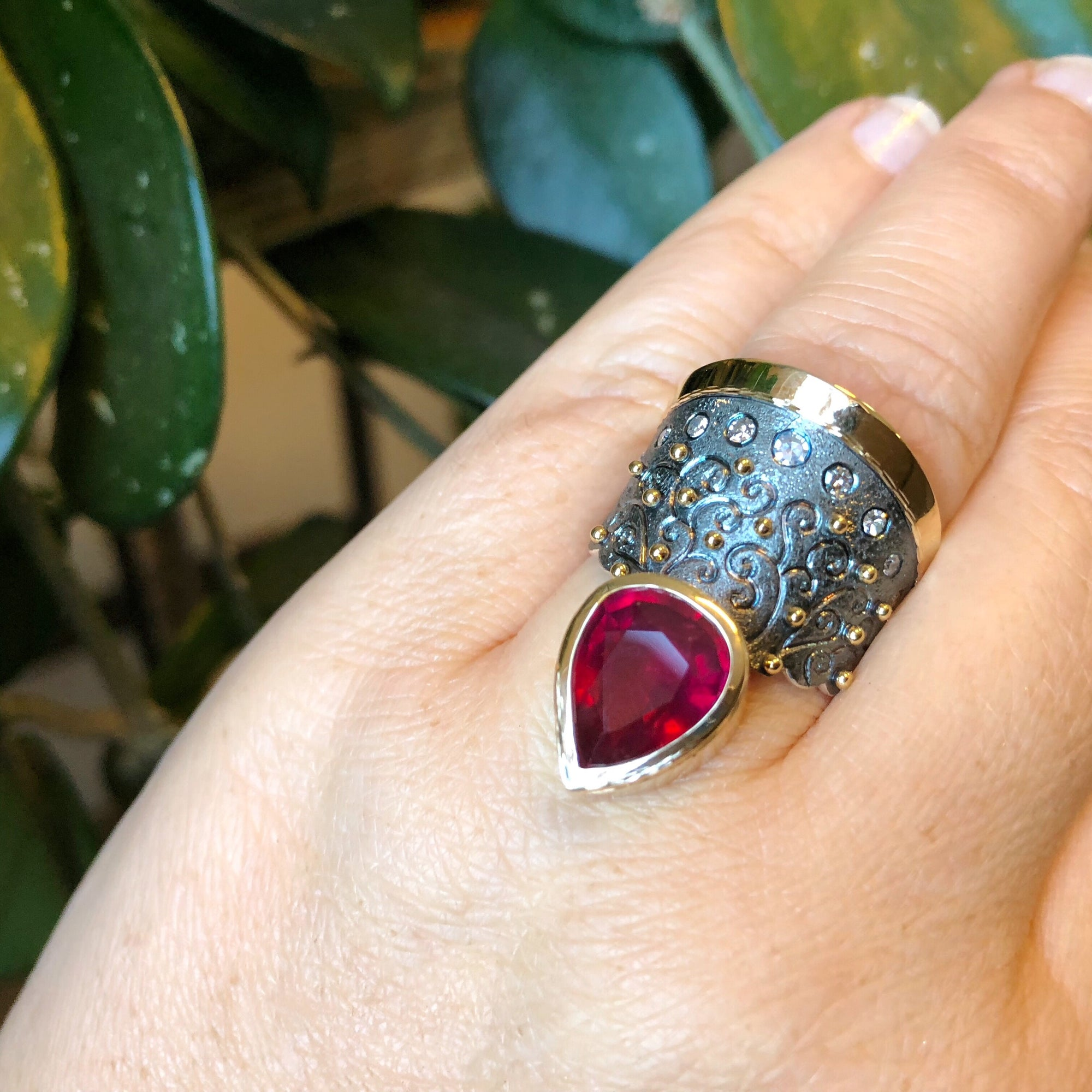 Petersburg Ruby and Diamond Ring by Margisa - Talisman Collection Fine Jewelers