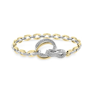 Diamond Two-Tone Gold Link Bracelet - Talisman Collection Fine Jewelers