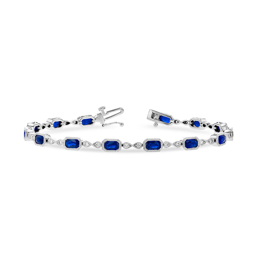 Blue Sapphire and Diamond Bracelet - Talisman Collection Fine Jewelers