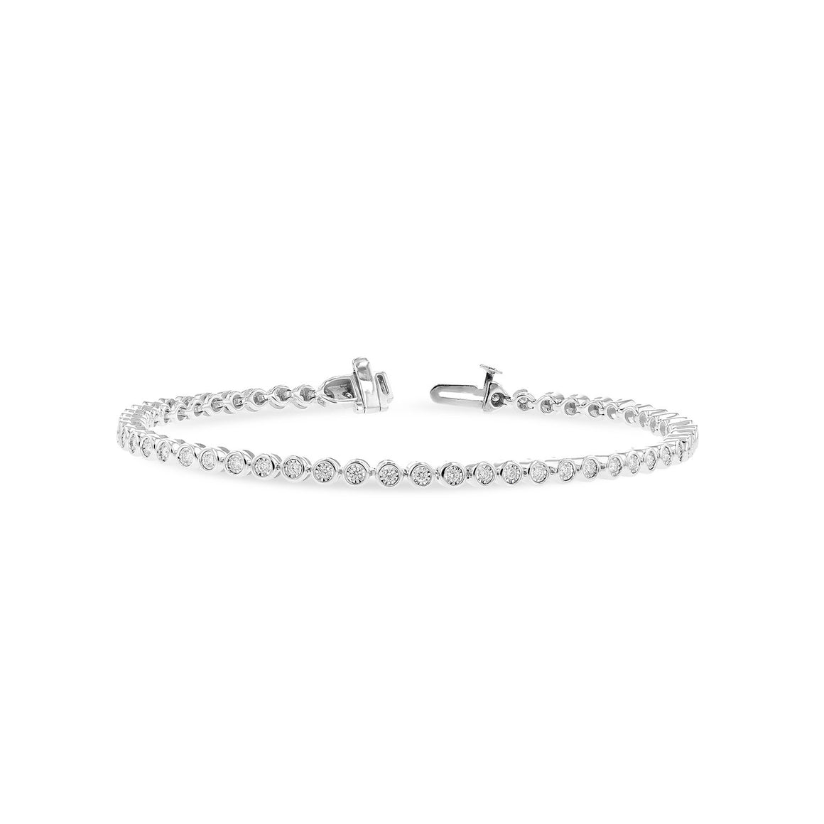 Bezel-Set Diamond Line Bracelet, 1.00 Carats - Talisman Collection Fine Jewelers