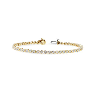 Diamond Bezel-Set Line Bracelet, 1.00 Carats - Talisman Collection Fine Jewelers