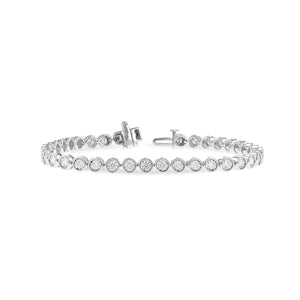 Bezel-Set Diamond Line Bracelet, 2.00 Carats - Talisman Collection Fine Jewelers