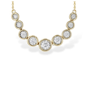 Bezel-Set Diamond Smile Necklace - Talisman Collection Fine Jewelers
