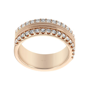 Diamond Textured Stack Ring - Talisman Collection Fine Jewelers