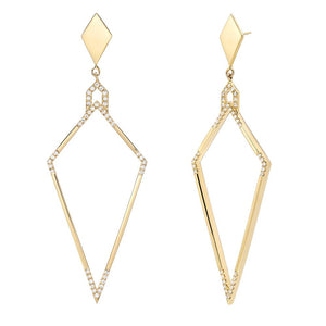 Pavé Amulet Diamond Earrings by DRU. - Talisman Collection Fine Jewelers