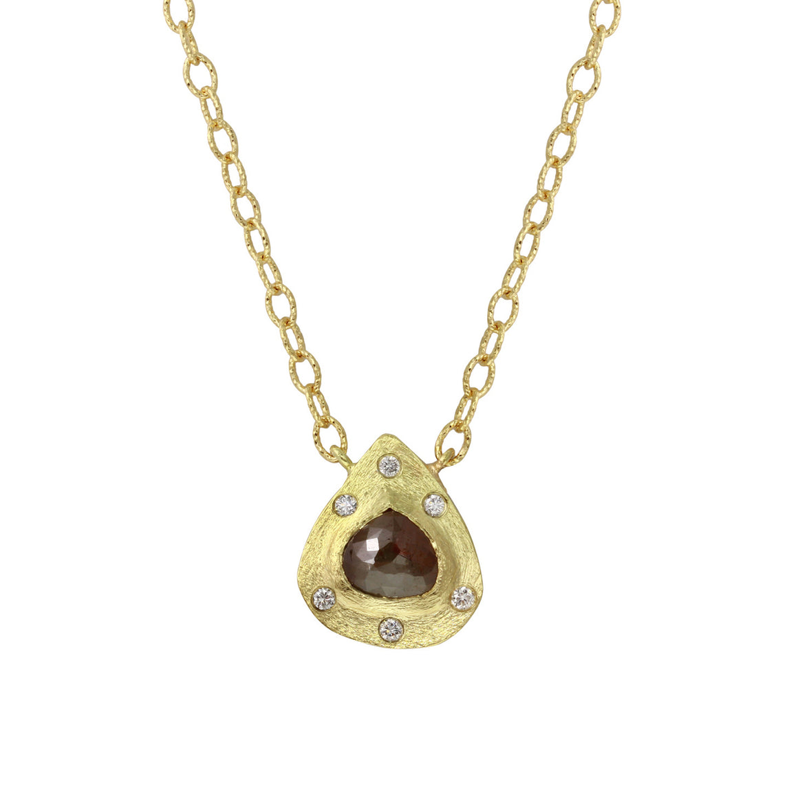Cognac and White Diamond Necklace - Talisman Collection Fine Jewelers