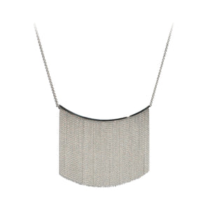 Large Fringe Necklace - Silver - Talisman Collection Fine Jewelers