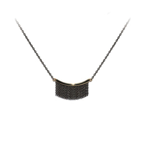 Medium Fringe Necklace - 14k Yellow Gold & Oxidized Silver - Talisman Collection Fine Jewelers