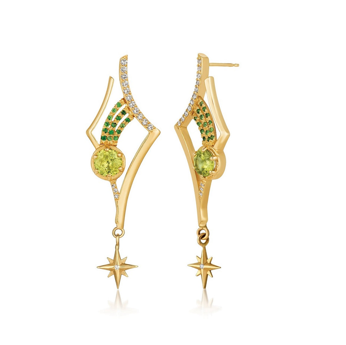 Antares Peridot Earrings by Martha Seely - Talisman Collection Fine Jewelers