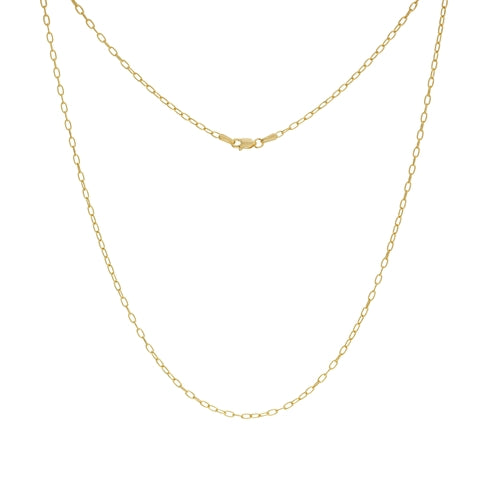 Paperclip Chain 14k Gold, Semi-solid, 2.05mm Links