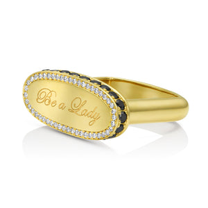 Be a Lady Diamond Signet Ring by DRU. - Talisman Collection Fine Jewelers