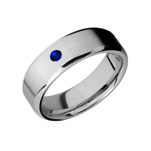 Cobalt Chrome Single Stone Men's Band