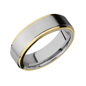 Cobalt Chrome and Gold Ridge Men's Band - Talisman Collection Fine Jewelers