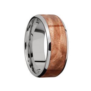 Maple Burl Inlay Men's Band - Talisman Collection Fine Jewelers