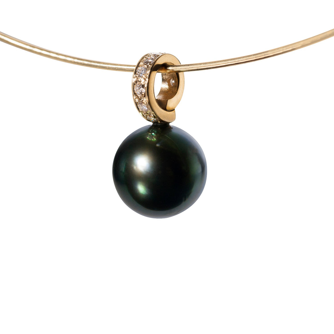 Tahitian Pearl and Diamond Pendant by Martha Seely