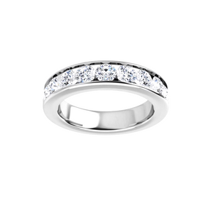 2 carat total weight diamond 14k white gold channel set diamond anniversary band  Greg Discount - Talisman Collection Fine Jewelers