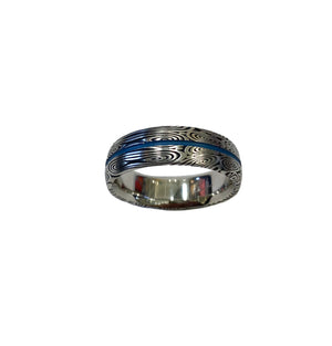 Thin Blue Line Ring or Thin Red Line Band Ring - Talisman Collection Fine Jewelers