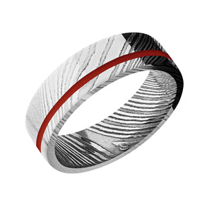 Thin Blue Line, Thin Red Line Ring - Talisman Collection Fine Jewelers
