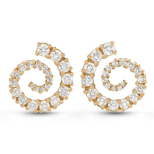 Diamond Spiral Earrings by Manya & Roumen - Talisman Collection Fine Jewelers