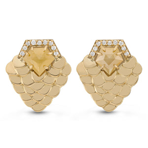 Large Scales Earrings by Manya & Roumen - Talisman Collection Fine Jewelers