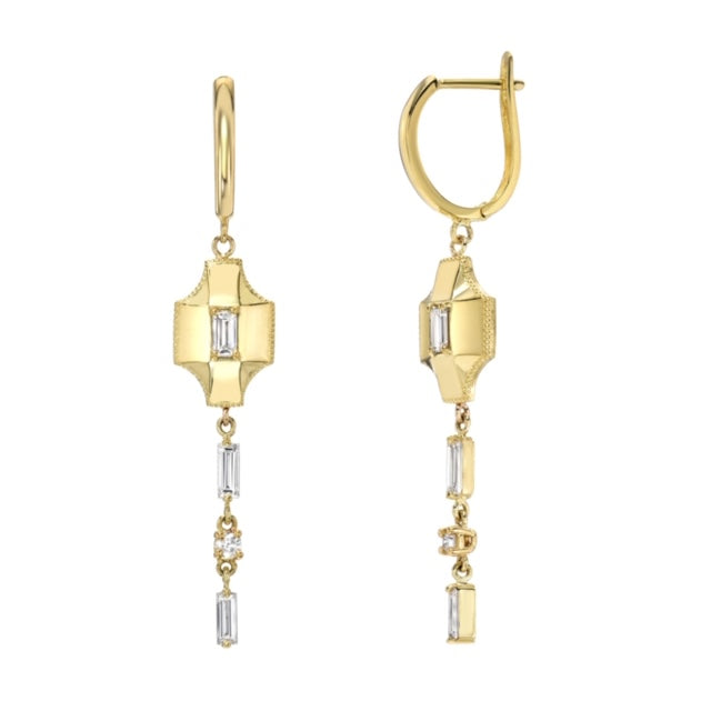 Baguette Contour Drop Earrings by Meredith Young - Talisman Collection Fine Jewelers
