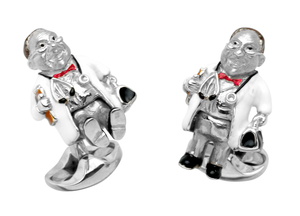 Sterling Enamel Doctor Cufflinks by Deakin & Francis - Talisman Collection Fine Jewelers