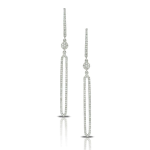 Diamond Elongated Open Drop Earrings by Doves - Talisman Collection Fine Jewelers
