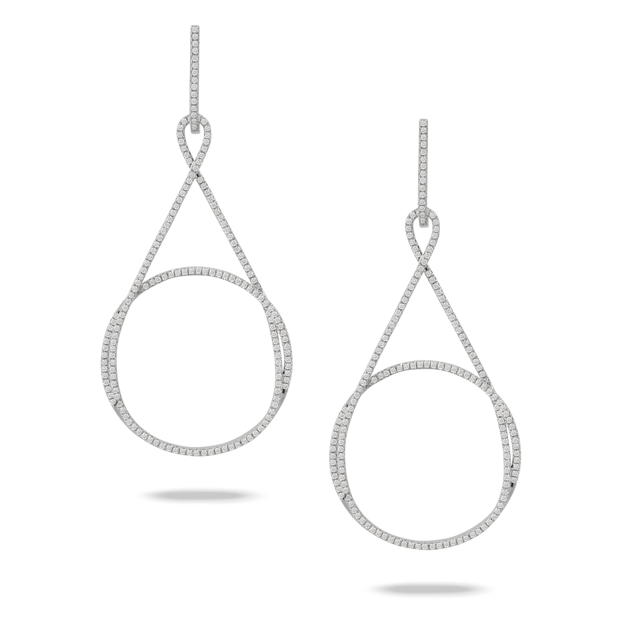 Diamond Open Circle Drop Earrings by Doves - Talisman Collection Fine Jewelers