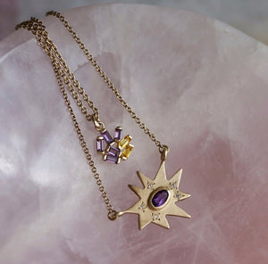 Amethyst Stellina Necklace - Talisman Collection Fine Jewelers