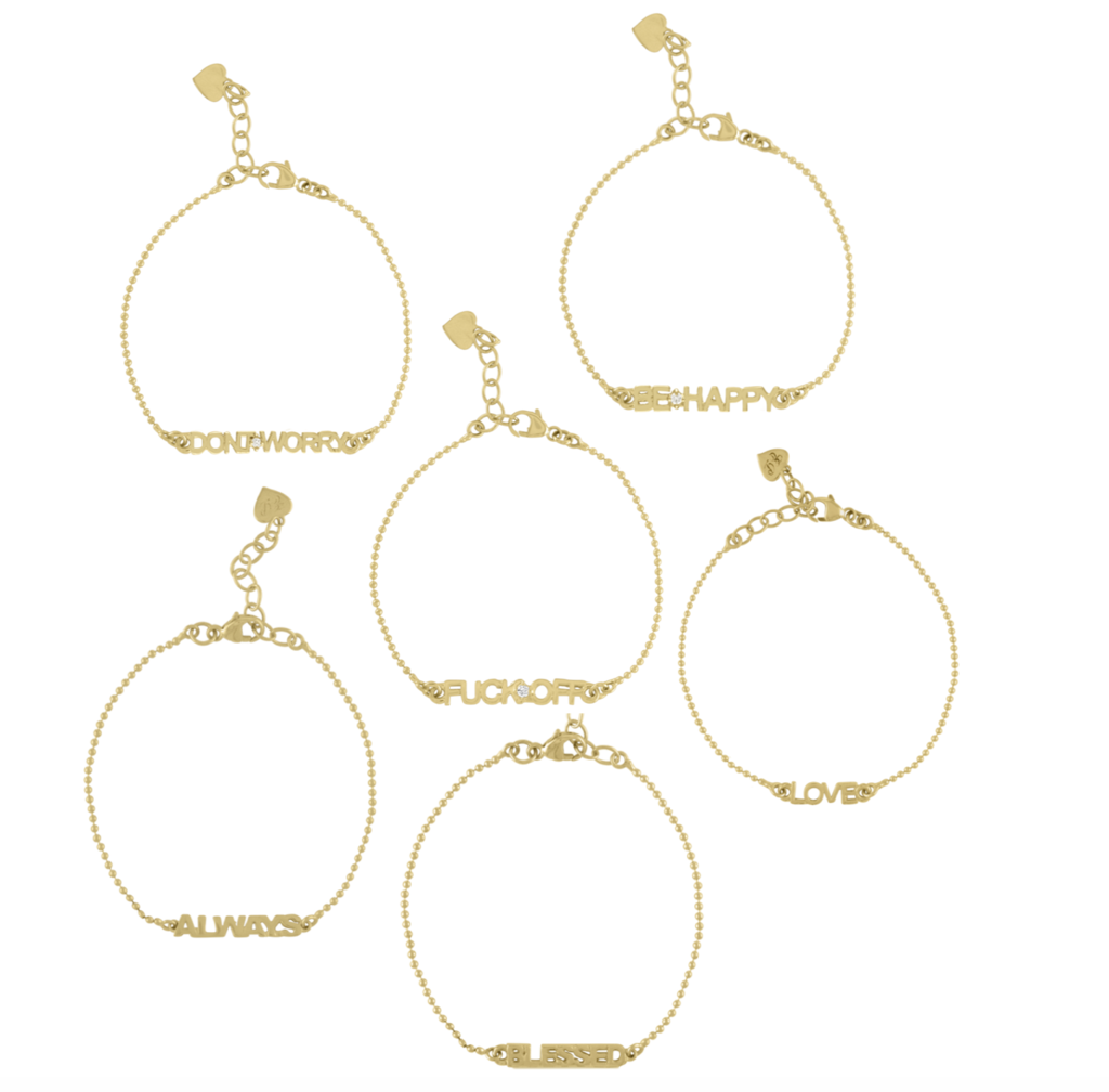 Golden Word Bead Chain Bracelet by Eden Presley - Talisman Collection Fine Jewelers