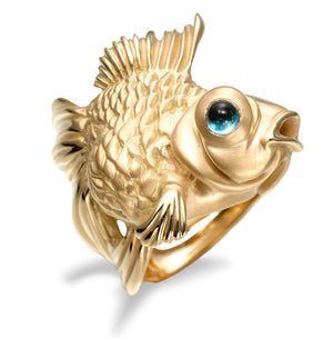 Manya & Roumen 18k Yellow Gold Koi Ring