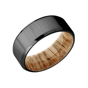 Natural Oak Sleeved Men's Band - Talisman Collection Fine Jewelers