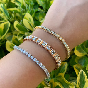 7.14 Carat Diamond Line Bracelet in White, Yellow or Rose Gold - Talisman Collection Fine Jewelers
