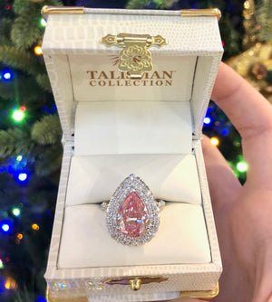 Pink Diamond Pear-Shaped Ring - Talisman Collection Fine Jewelers