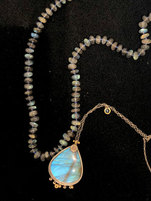 "Labradorite ""Waiting For Peace"" Necklace by Anna Ruth Henriques - Talisman Collection Fine Jewelers"