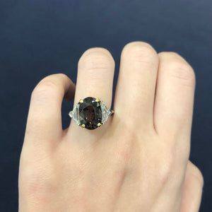 Alexandrite Diamond Ring - GIA Certified - Untreated