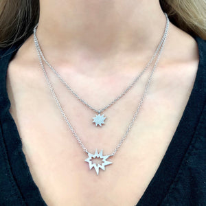 Silver Stellina Nova Necklace