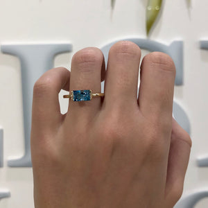 Swiss Blue Topaz Bonbon Ring