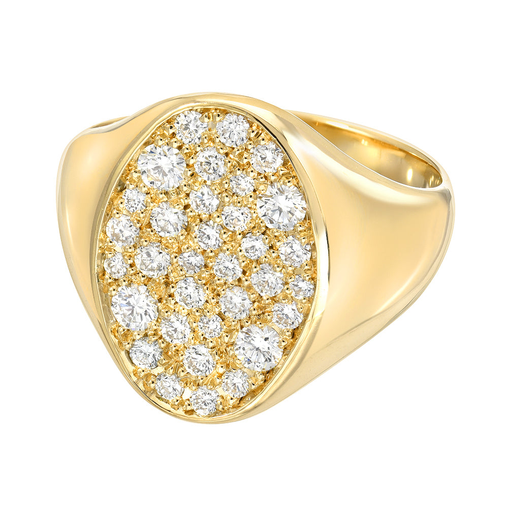 Galaxy Pavé Diamond Signet Ring by DRU. - Talisman Collection Fine Jewelers