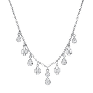 Contour Pear-Shaped Diamond Necklace by Meredith Young - Talisman Collection Fine Jewelers