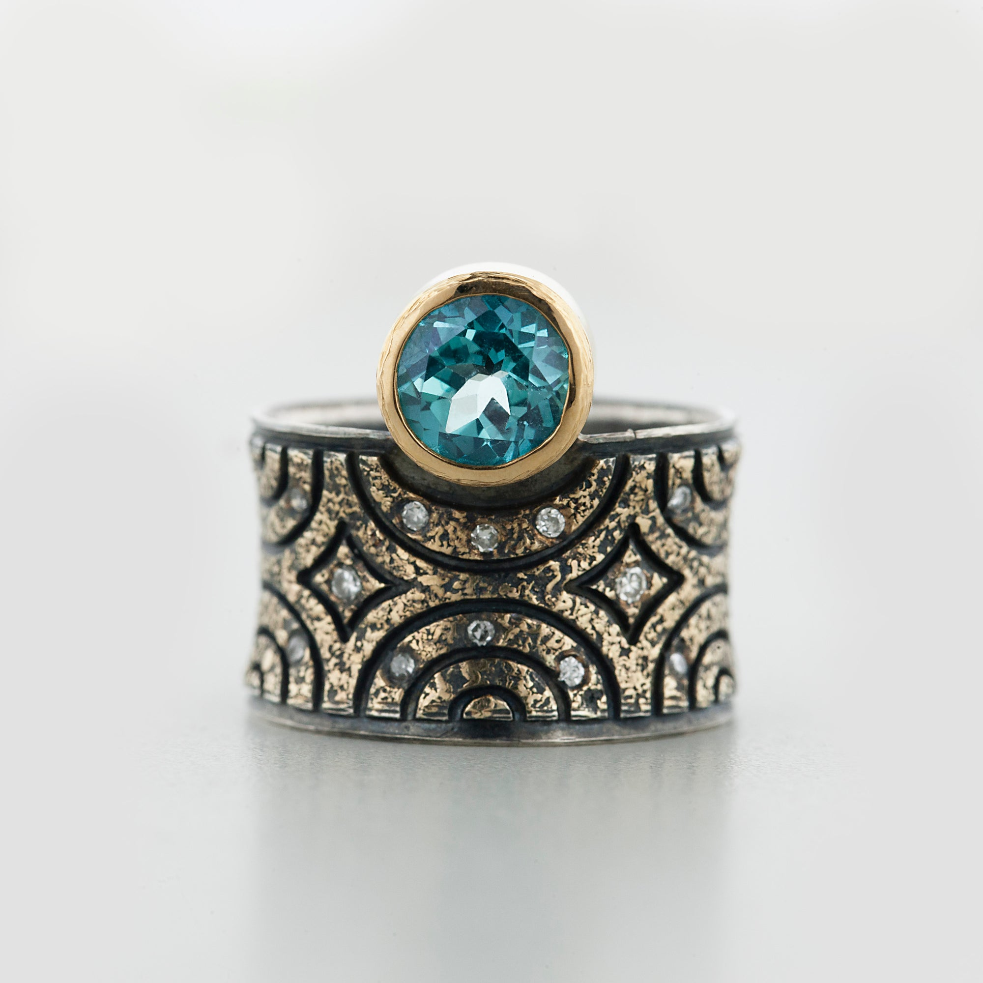 New York Teal Green Topaz Ring by Margisa - Talisman Collection Fine Jewelers