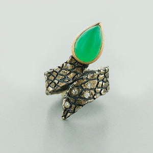 "Margisa Opal and Diamond ""Snake"" Ring"