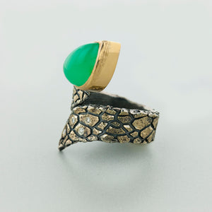 Snake Opal and Diamond Ring by Margisa - Talisman Collection Fine Jewelers