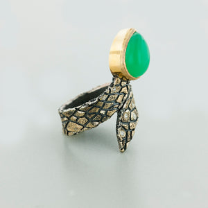 """Snake"" Opal and Diamond Ring by Margisa"