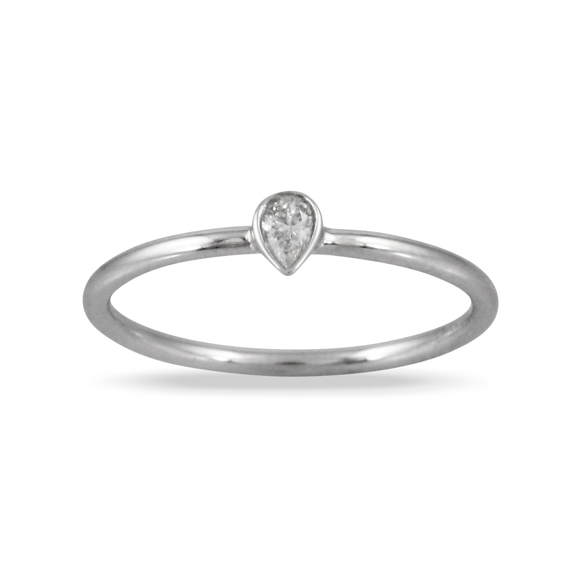 Diamond Mini Pear Ring by Doves - Talisman Collection Fine Jewelers