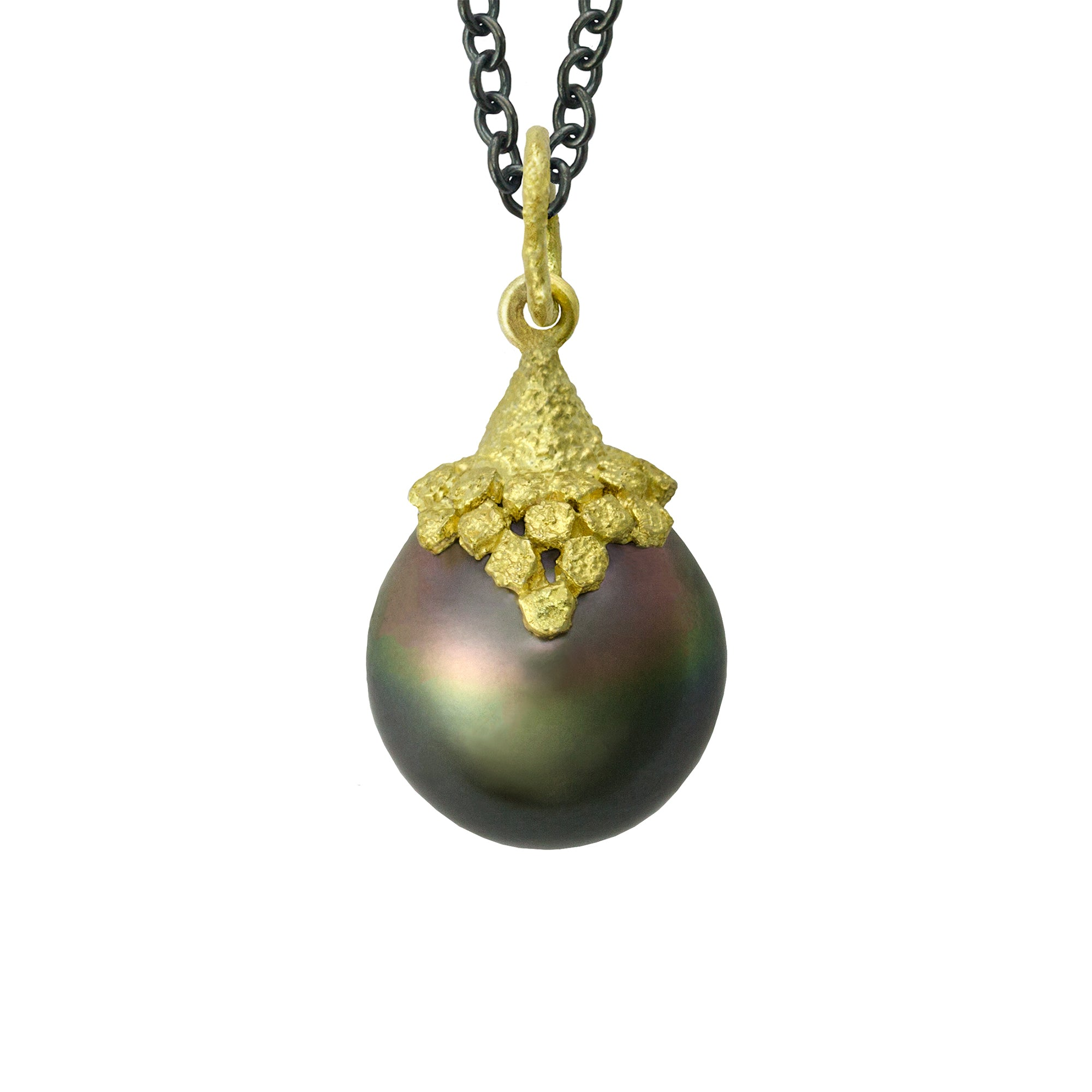Tahitian Pearl Fresco Necklace by Laurie Kaiser - Talisman Collection Fine Jewelers